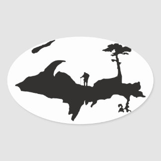 Upper Peninsula Outdoors oval stickers
