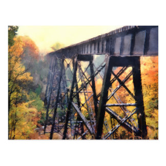 Upper Peninsula Train Trestle Postcard