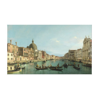 Upper Reaches of the Grand Canal (by Canaletto) Canvas Print