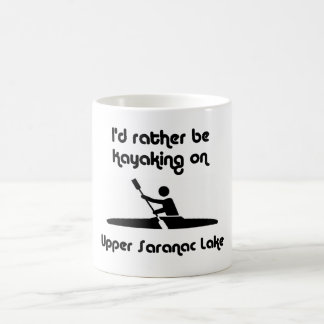 upper saranac id kayaking coffee mug