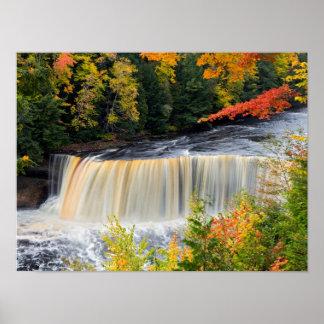 Upper Tahquamenon Falls in Autumn Poster