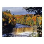 Upper Tahquamenon Falls in UP Michigan in autumn Postcard