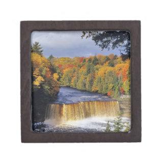 Upper Tahquamenon Falls in UP Michigan in autumn Premium Keepsake Box