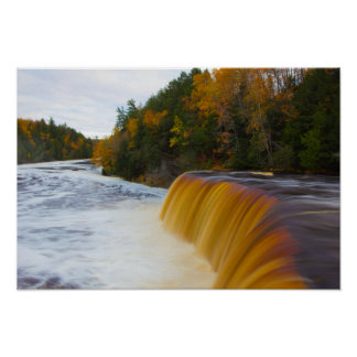 Upper Tahquemenon Falls, Autumn, Michigan Poster