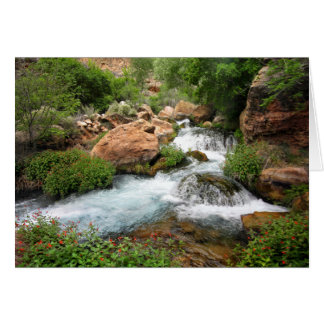 Upper Tapeats Creek Waterfall - Grand Canyon Card