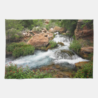Upper Tapeats Creek Waterfall - Grand Canyon Kitchen Towel