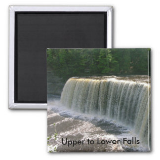 Upper to Lower Falls Square Magnet