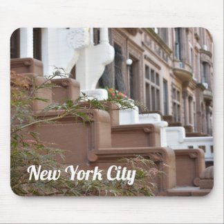 Upper West Side Brownstones New York City NYC Mouse Pad