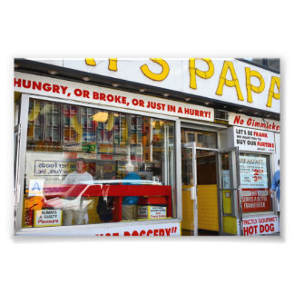 Upper West Side Hot Dog Shop New York City NYC Photo Print