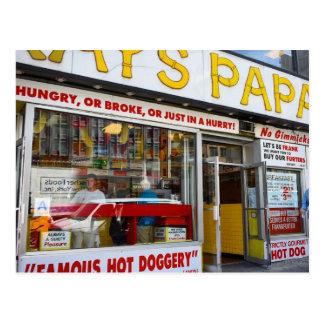 Upper West Side Hot Dog Shop New York City NYC Postcard