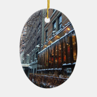 Upper West Side Icicles New York City Winter NYC Ceramic Ornament