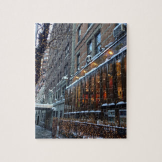 Upper West Side Icicles New York City Winter NYC Jigsaw Puzzle