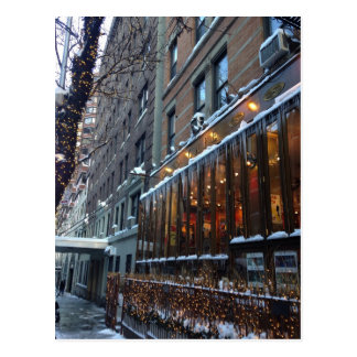 Upper West Side Icicles New York City Winter NYC Postcard