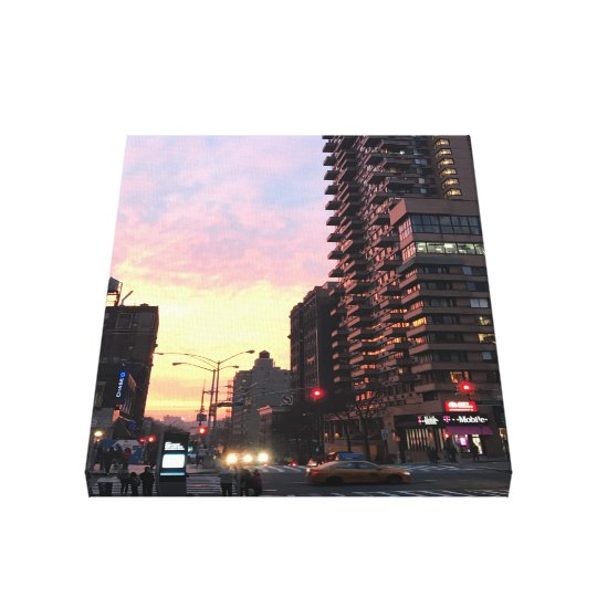 Upper West Side Sunset NYC New York Photo Art Canvas Print