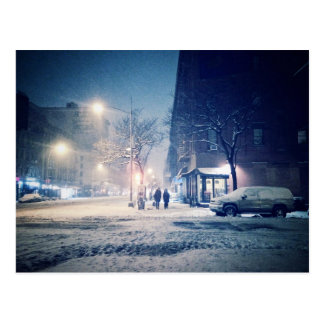 Upper West Side Winter Night Postcard