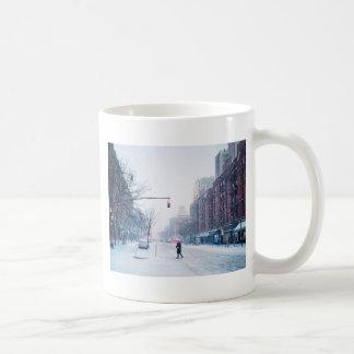 Upper West Side Winter Snowstorm Coffee Mug