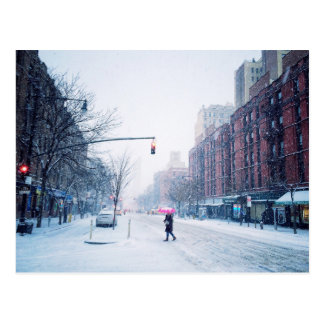 Upper West Side Winter Snowstorm Postcard