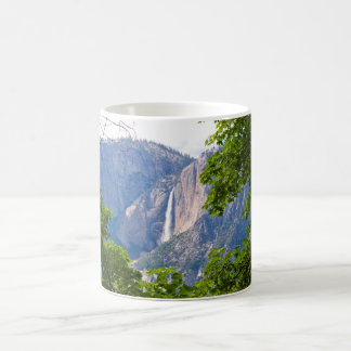 Upper Yosemite Falls Framed by Leaves 11 oz Coffee Mug