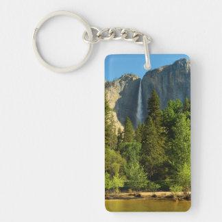 Upper Yosemite Falls, Merced River, Yosemite Double-Sided Rectangular Acrylic Keychain