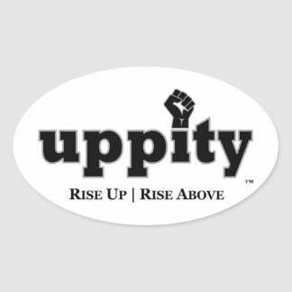 Uppity Power Oval Stickers (4 Pack)