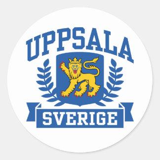 Uppsala Sverige Classic Round Sticker