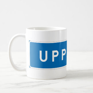 Uppsala, Swedish road sign Coffee Mug