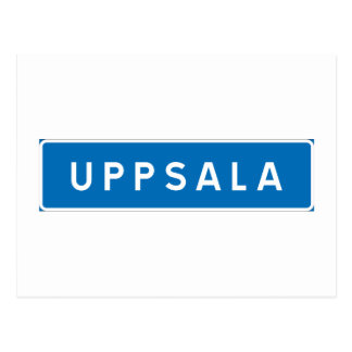 Uppsala, Swedish road sign Postcard