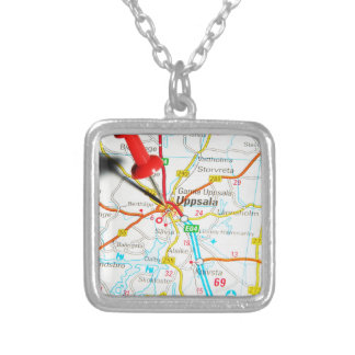 Uppsala (Upsala) in Sweden Silver Plated Necklace
