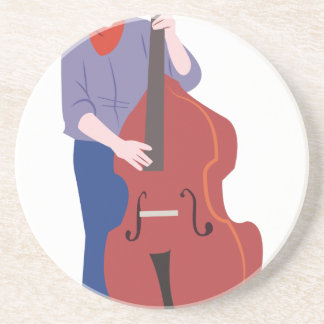 Upright Bass Player Beverage Coaster