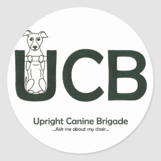 Upright Canine Brigade Sticker
