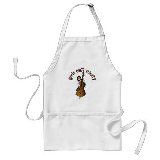 Upright String Double Bass Girl Standard Apron