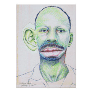 Upscale #1 Colored Pencil Art Surrealism Portrait Poster