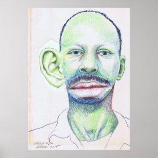 Upscale #1 Coloured Pencil Art Surrealism Portrait Poster