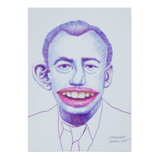 Upscale #5 Colored Pencil Art Surrealism Portrait Poster