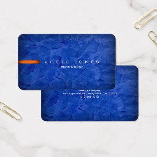 Upscale Elegant Blue And Orange Business Card