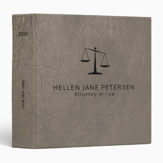 Upscale lawyer office taupe grey leather look binders