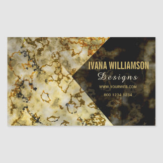 Upscale Luxurious Marbleized Cracked  FAUX Gold Sticker