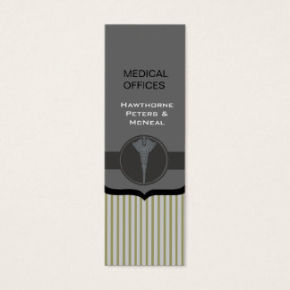 Upscale Modern Medical Doctor Stripped Mini Business Card