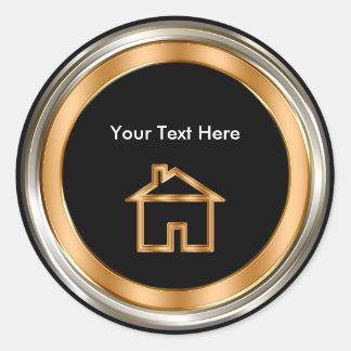 Upscale Real Estate Sticker Labels