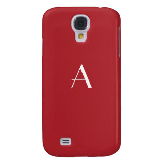 Upsdell Red w/White Monogram