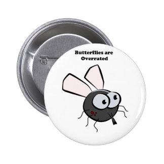 Upset Mosquito Cartoon 2 Inch Round Button