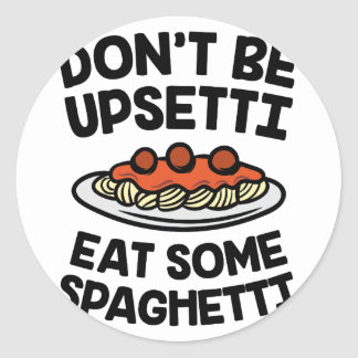 Upsetti Spaghetti Classic Round Sticker