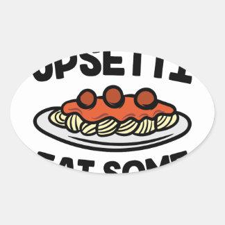 Upsetti Spaghetti Oval Sticker