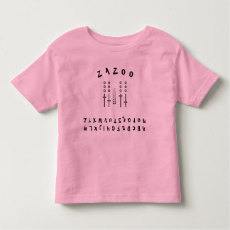 Upside Down Alphabet Toddler T-Shirt