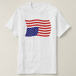 Upside Down American Flag Distress - Anti Trump T-Shirt