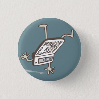 Upside Down Calculator Hello Retro Flair 1 Inch Round Button