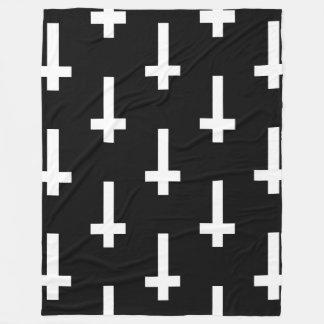 upside down cross blanket