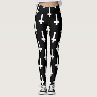 upside down cross leggings