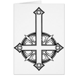 Upside Down Cross Pattern Card