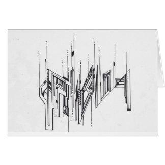 Upside-down Doodle: notecard
